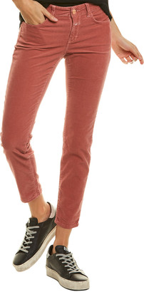 Closed Baker Cord Brown Cropped Straight Leg Jean