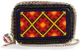 Christian Louboutin Piloutin bead-embellished leather clutch