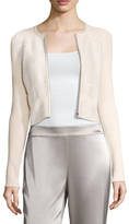 Narciso Rodriguez Pointelle Zip Front Cardigan