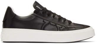 Salvatore Ferragamo Black Borg Sneakers