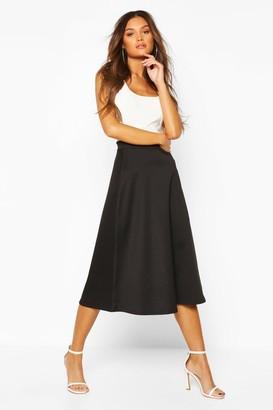 boohoo Plain Full Circle Midi Skirt