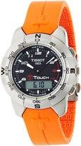 Tissot Men's T33787892 T-Touch Polished Titanium Orange Rubber Watch