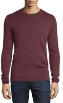 Michael Kors Interlock Long-Sleeve Cashmere Sweater, Burgundy