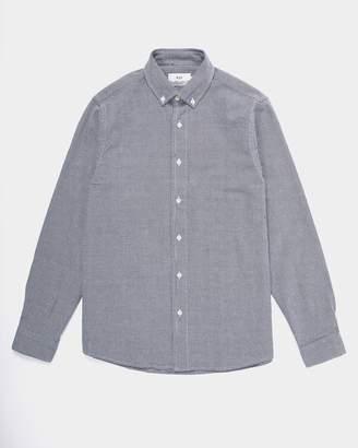 Wax London - Bampton Shirt Indigo Weave