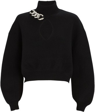 Alexander Wang Chain Trim Turtleneck Sweater