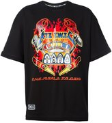 Kokon To Zai flame print T-shirt - men - Cotton - XS