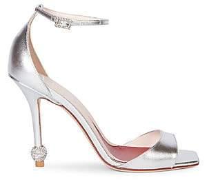 Roger Vivier Women's I love Vivier Embellished Metallic-Leather Sandals
