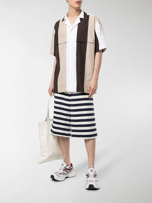 Sunnei Striped Wide-Leg Shorts