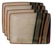 Sango Avanti Black Rectangular 4-Piece Plate Set in 9-Inch x 7-Inch