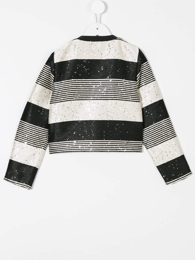Karl Lagerfeld striped sequined jacket