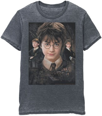 Men's Harry Potter Chamber Of Secrets Harry Ron Hermione Poster Graphic Tee