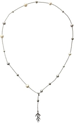 Farra Multi-Wear Natural Freshwater Pearls Silver Color Necklace