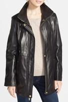 Ellen Tracy Genuine Lambskin Leather Anorak