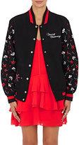 Opening Ceremony Women's Appliquéd Varsity Jacket-BLACK