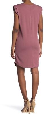 MelloDay Padded Shoulder Sleeveless T-Shirt Dress