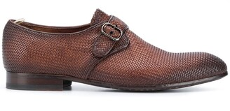 Officine Creative Woven Monk Strap Shoes