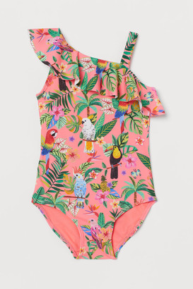 H&M Patterned flounced swimsuit