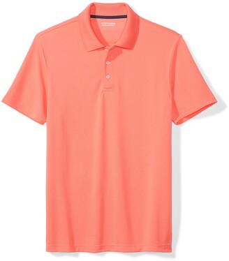 Amazon Essentials Slim-fit Quick-dry Golf Polo Shirt Coral XXL