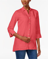 JM Collection Linen-Blend Shirt, Only at Macy's
