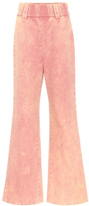 Miu Miu High-rise flared jeans