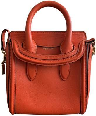 Alexander McQueen Heroine Orange Leather Handbags