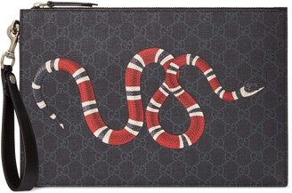 Gucci Bestiary pouch with Kingsnake