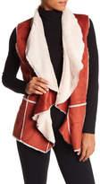 Angie Faux Suede & Faux Fur Lined Vest