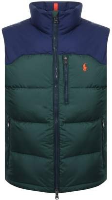 Ralph Lauren Cap Down Gilet Green