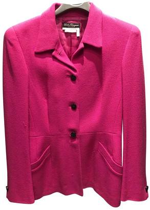 Salvatore Ferragamo Pink Wool Jacket for Women