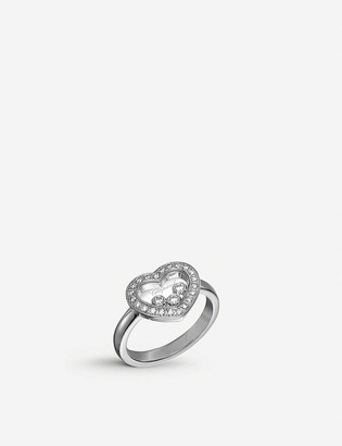 Chopard Happy Diamonds Icons 18ct white-gold and diamond ring