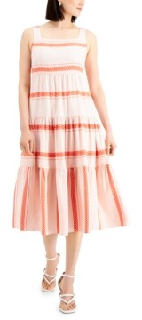 Thumbnail for your product : Taylor Petite Tiered Midi Dress