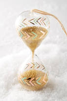 Anthropologie Painted Hourglass Ornament