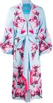 Yuliya Magdych Magnolia embroidered robe-style dress