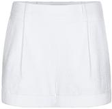 Diane von Furstenberg Gillian Textured Cotton Cuffed Short