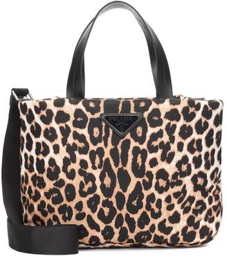 Prada Leopard-print nylon tote