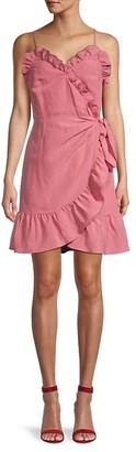 Rebecca Taylor Ruffle Wrap-Effect Dress
