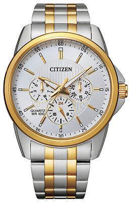 Citizen Quartz Mens Two Tone Stainless Steel Bracelet Watch-Ag8344-57b Family