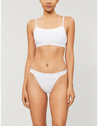 Calvin Klein One unlined cotton-blend sports bra
