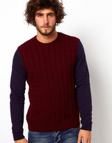 Asos Cable Sweater with Jersey Arms