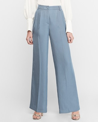 Express High Waisted Pleated Wide Leg Pant