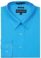 Sunrise Outlet Men's Slim Fit Basic Shirt Button Cuff - M
