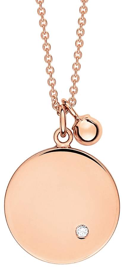 ginette_ny Mini Ever Disc Chain Necklace - Rose Gold