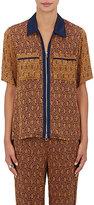 3.1 Phillip Lim Women's Jacquard Short Sleeve Shirt-PURPLE