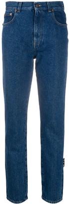 Off-White Logo-Print Straight-Leg Jeans