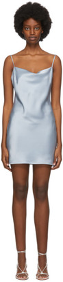 Nanushka SSENSE Exclusive Blue Satin Lotti Tank Dress