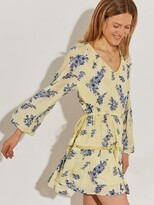 Thumbnail for your product : River Island Broderie Floral Smock Dress-yellow