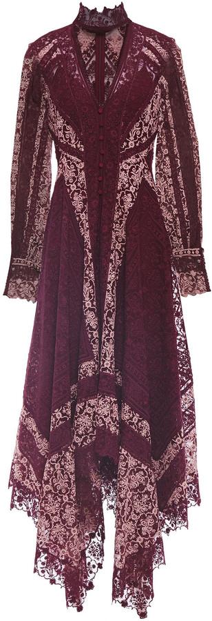 Jonathan Simkhai Asymmetric Cutout Embroidered Tulle Maxi Dress