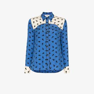 HVN Kate cherry print silk shirt