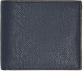 Valextra Navy 6cc Bifold Wallet