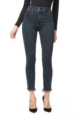 Good American Good Curve Skinny Raw Edge Jeans (Regular & Plus Size)